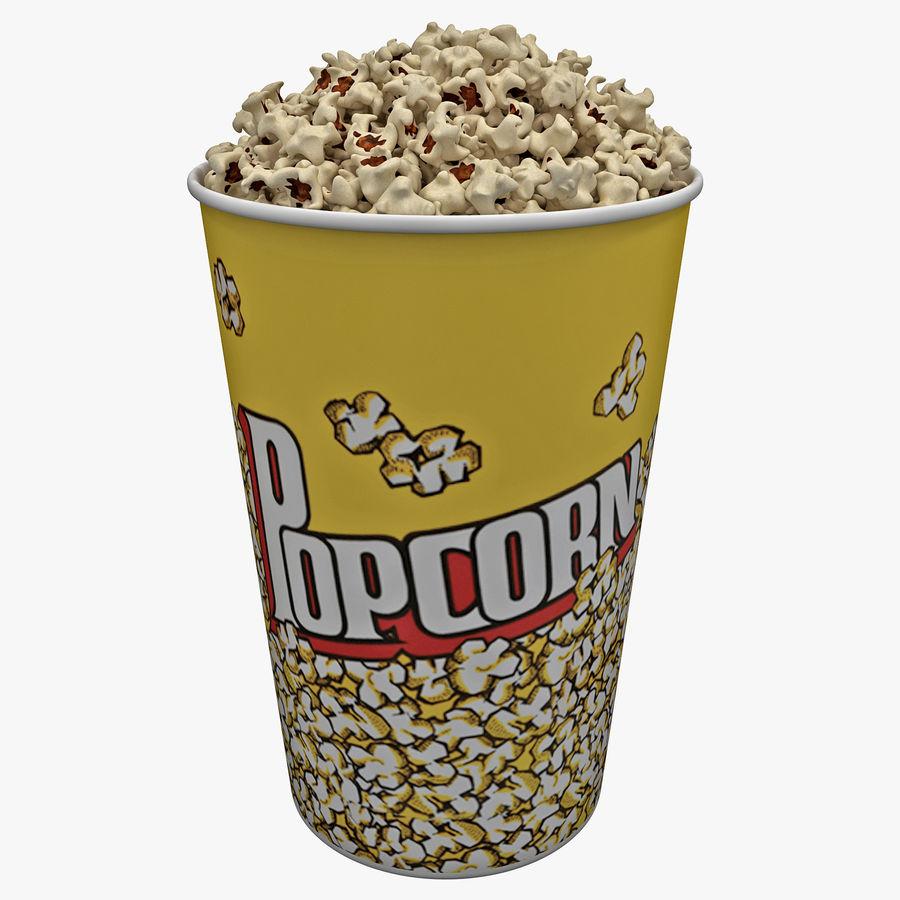 Popcorn Bowl royalty-free 3d model - Preview no. 1
