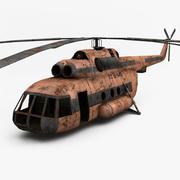 Ржавый вертолет 3d model