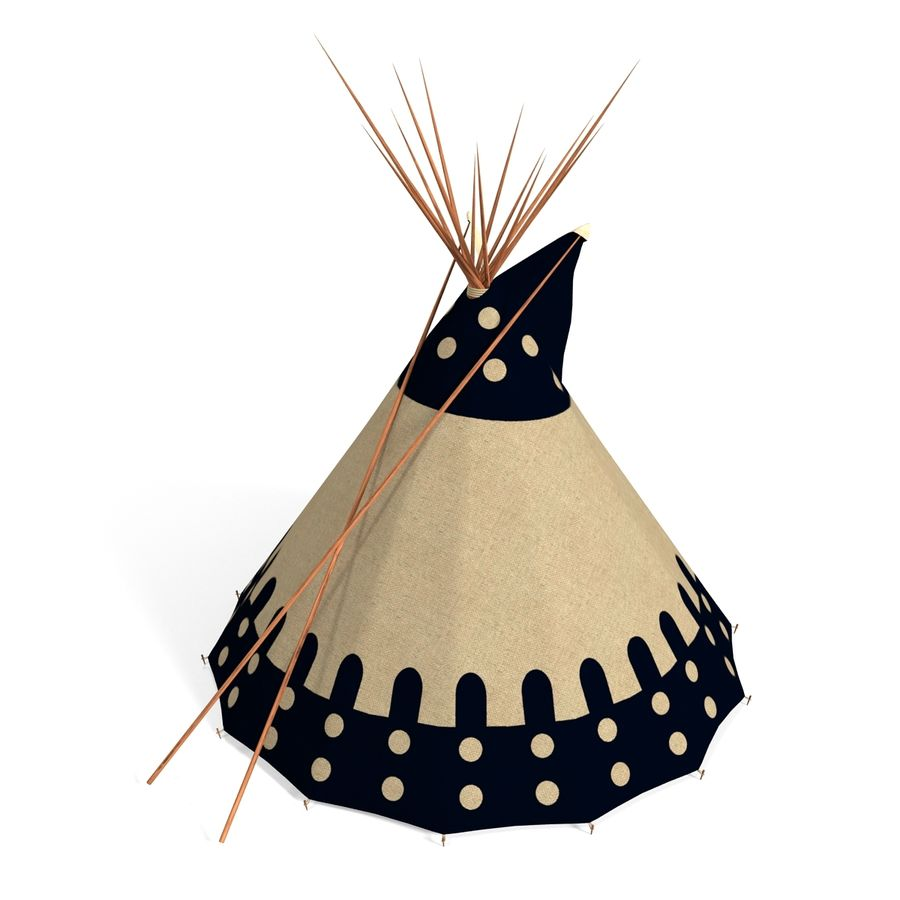 Indian TeePe royalty-free 3d model - Preview no. 7
