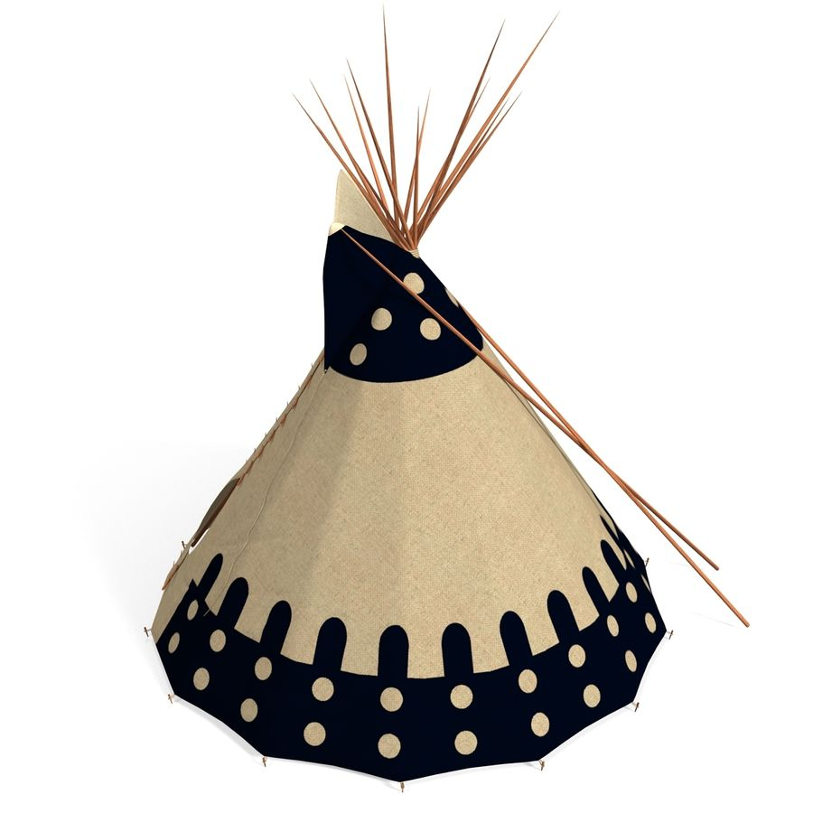 Indian TeePe royalty-free 3d model - Preview no. 4
