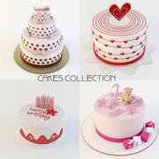 colección de pasteles modelo 3d