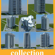 collection of skyscraper 3d model