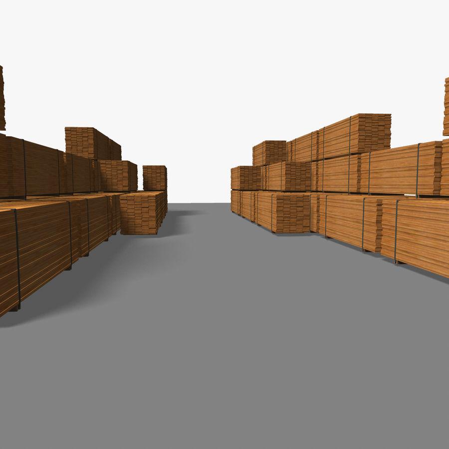 Pilha de madeira serrada royalty-free 3d model - Preview no. 20