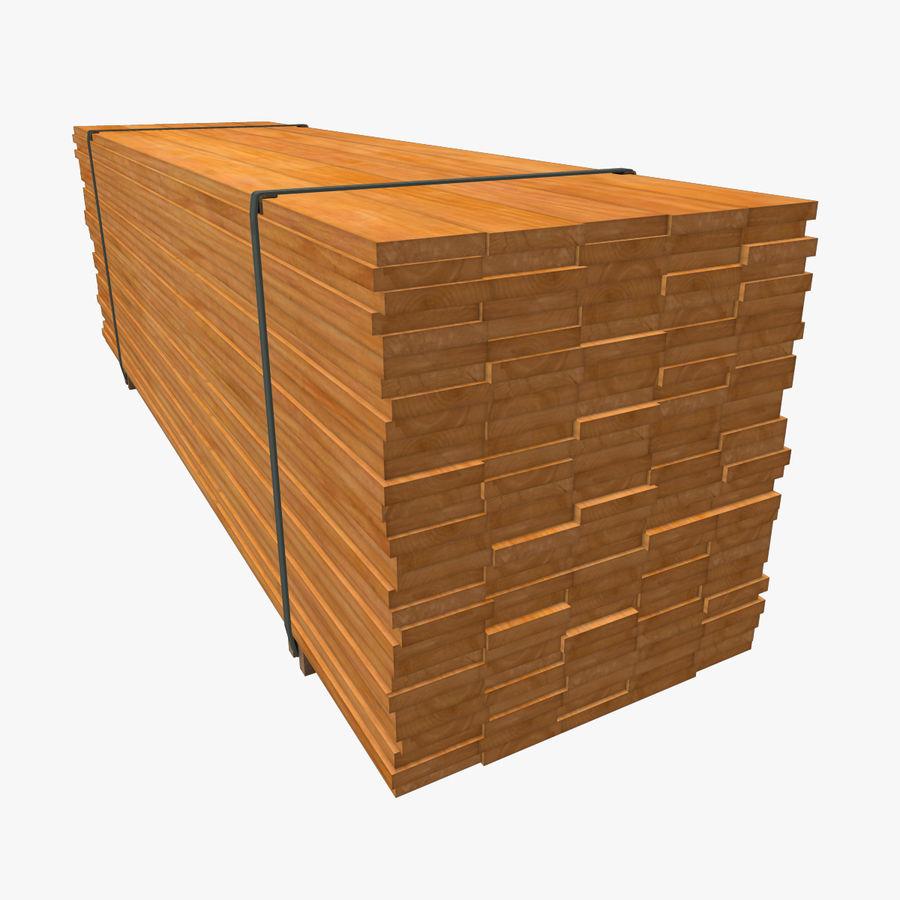 Pilha de madeira serrada royalty-free 3d model - Preview no. 8