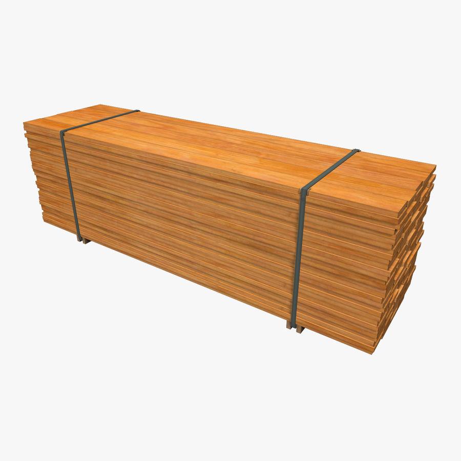 Pilha de madeira serrada royalty-free 3d model - Preview no. 1