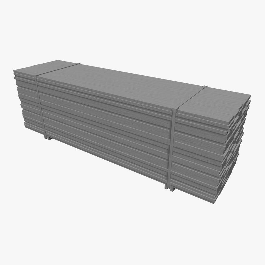 Pilha de madeira serrada royalty-free 3d model - Preview no. 3
