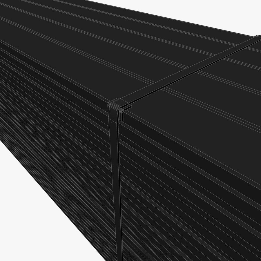 Pilha de madeira serrada royalty-free 3d model - Preview no. 13