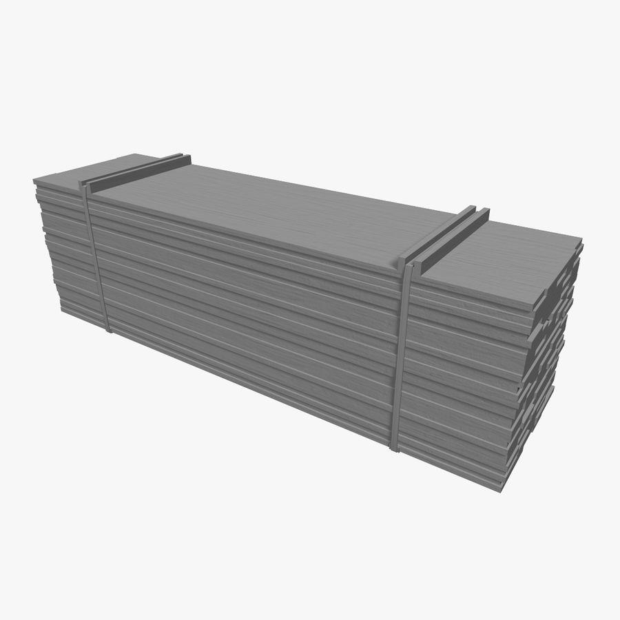 Pilha de madeira serrada royalty-free 3d model - Preview no. 6
