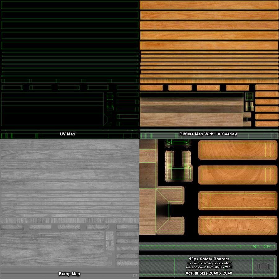 Pilha de madeira serrada royalty-free 3d model - Preview no. 22
