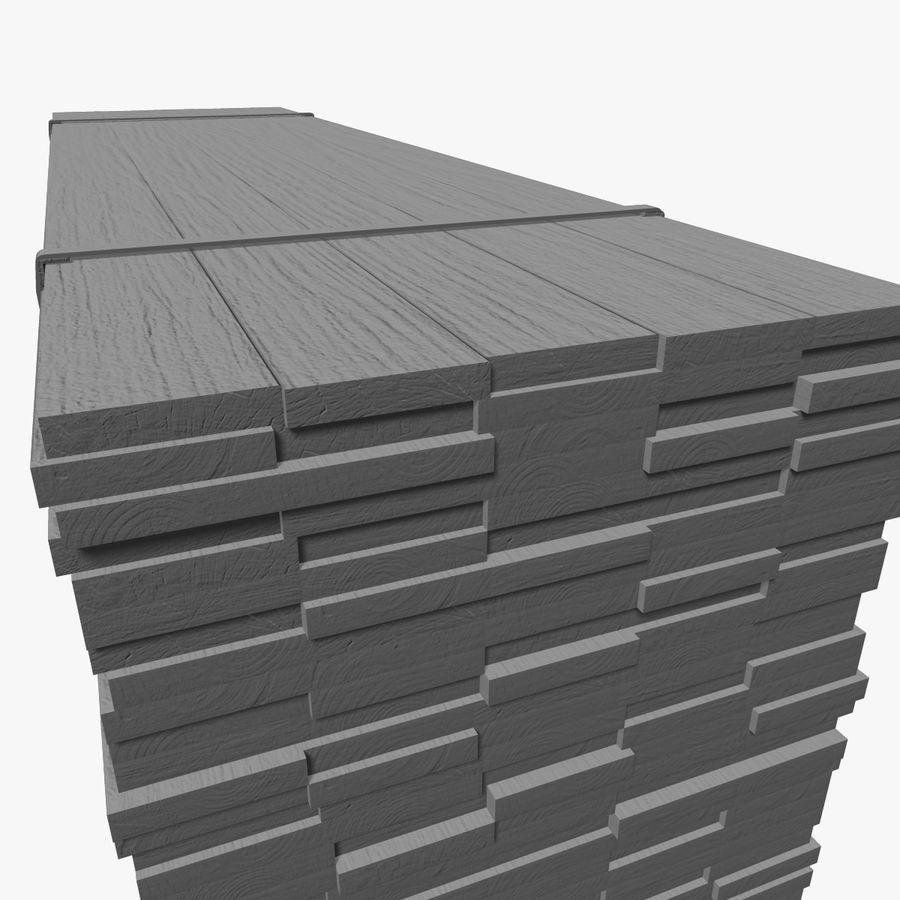Pilha de madeira serrada royalty-free 3d model - Preview no. 15