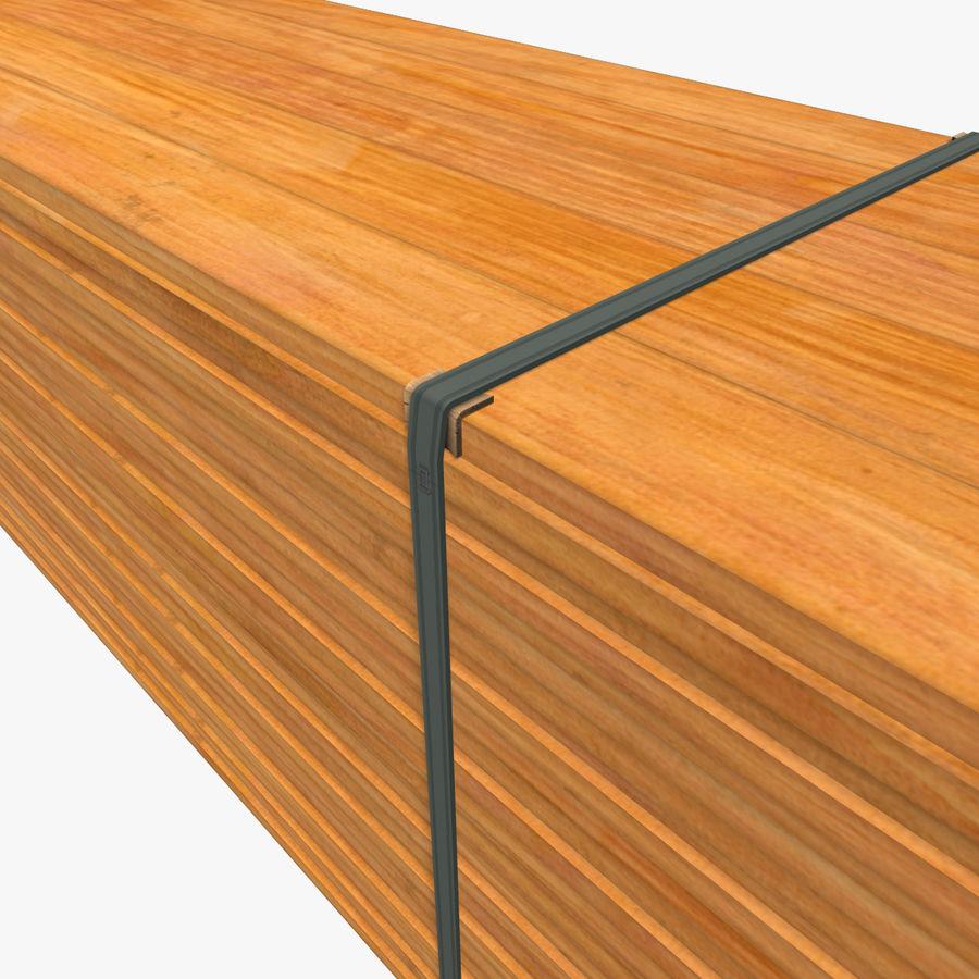 Pilha de madeira serrada royalty-free 3d model - Preview no. 11
