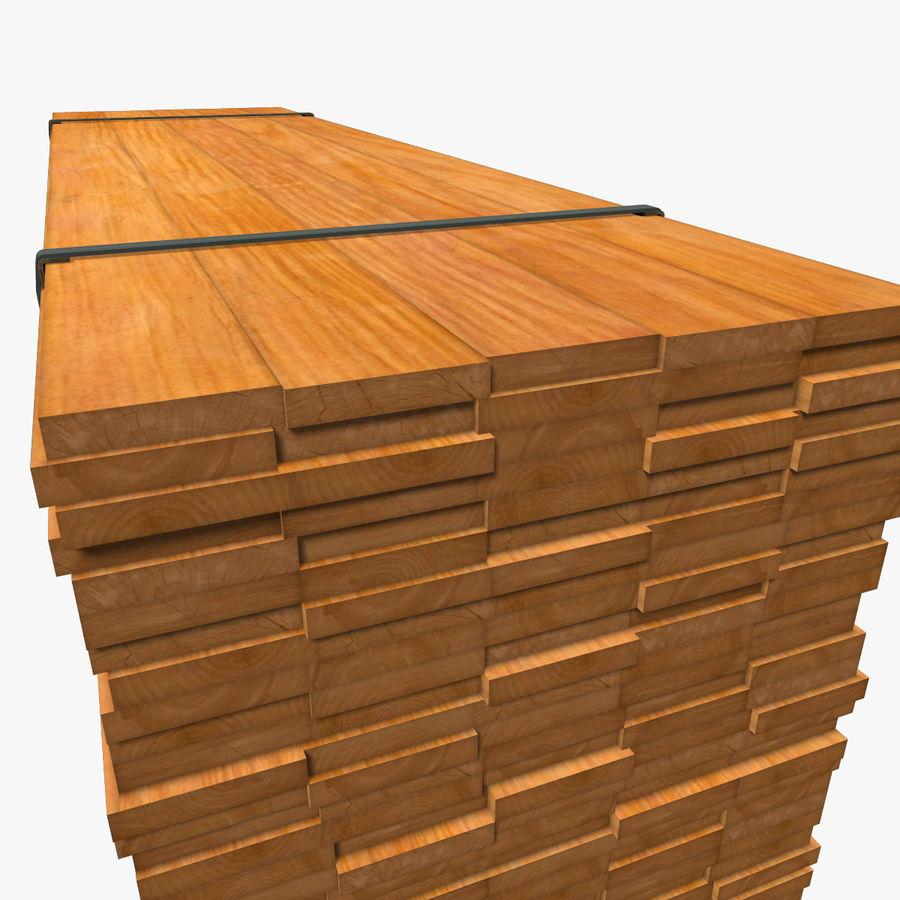 Pilha de madeira serrada royalty-free 3d model - Preview no. 14