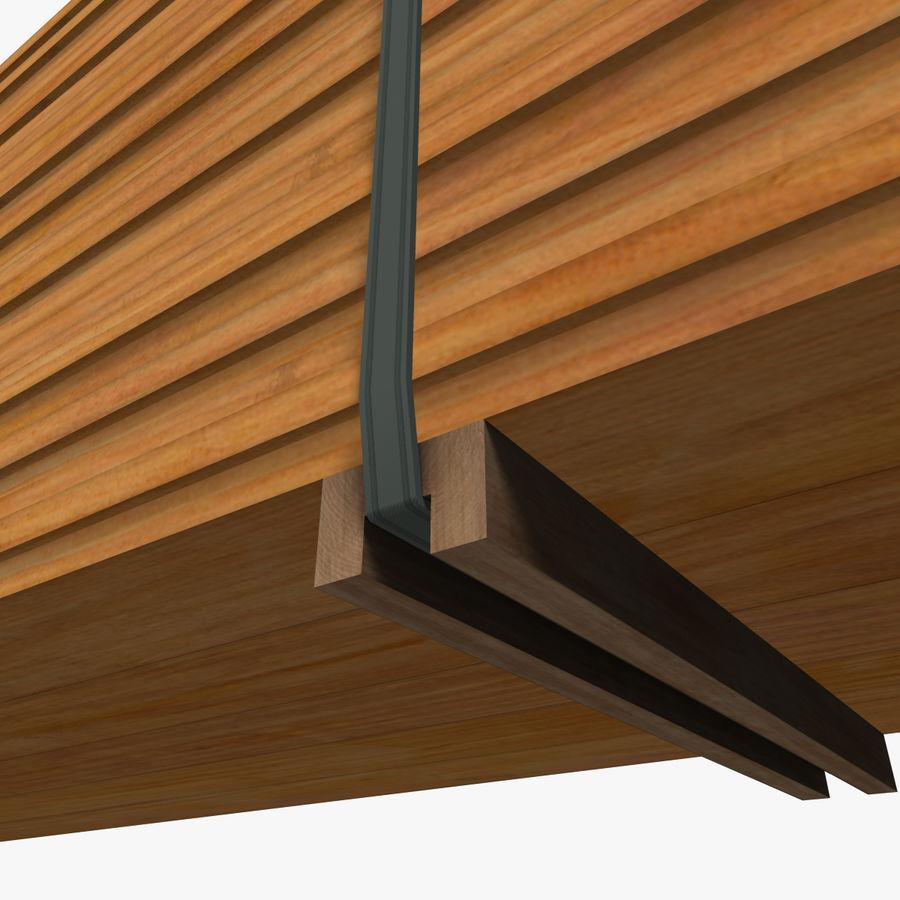 Pilha de madeira serrada royalty-free 3d model - Preview no. 17