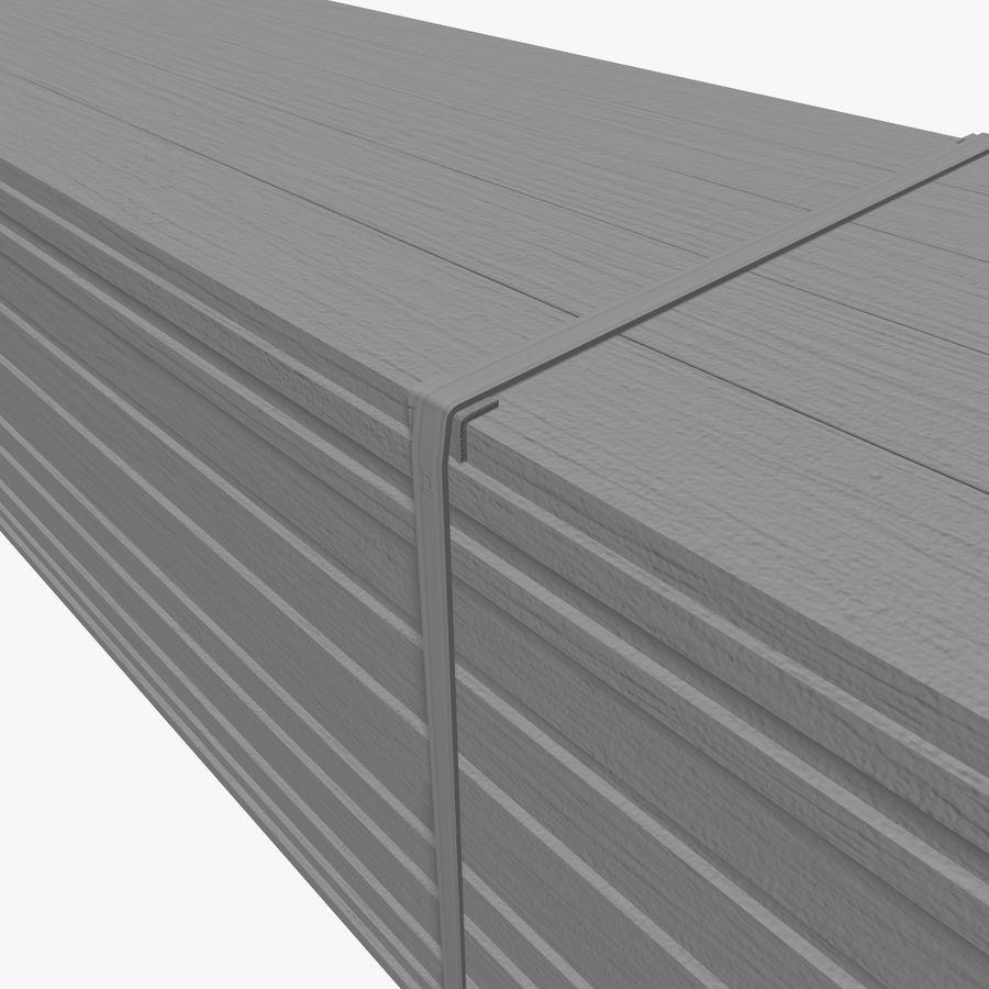 Pilha de madeira serrada royalty-free 3d model - Preview no. 12