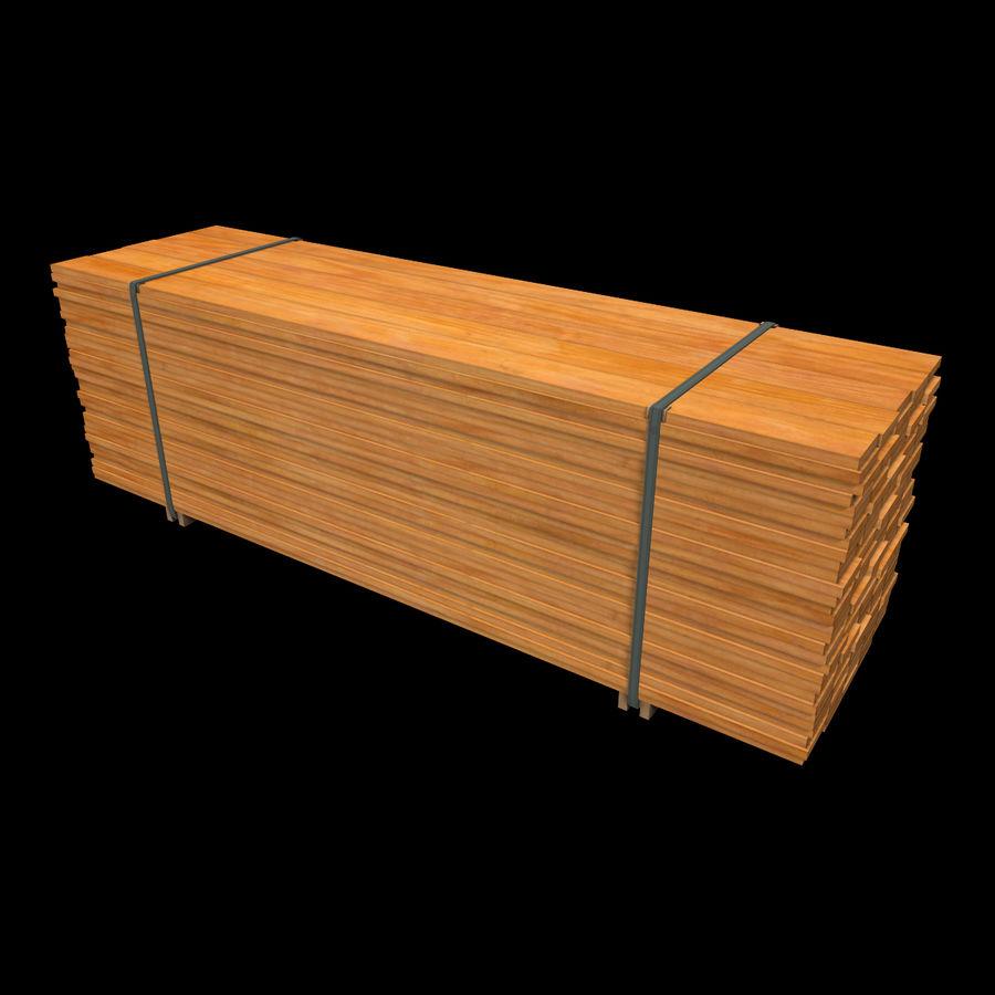 Pilha de madeira serrada royalty-free 3d model - Preview no. 2