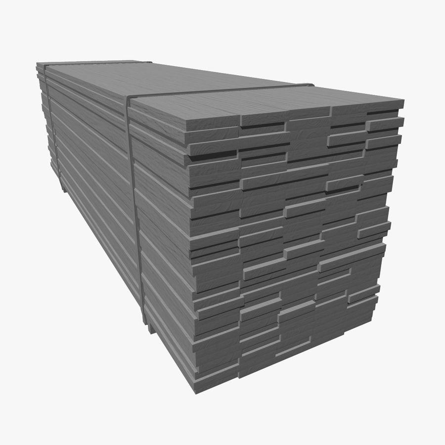 Pilha de madeira serrada royalty-free 3d model - Preview no. 9