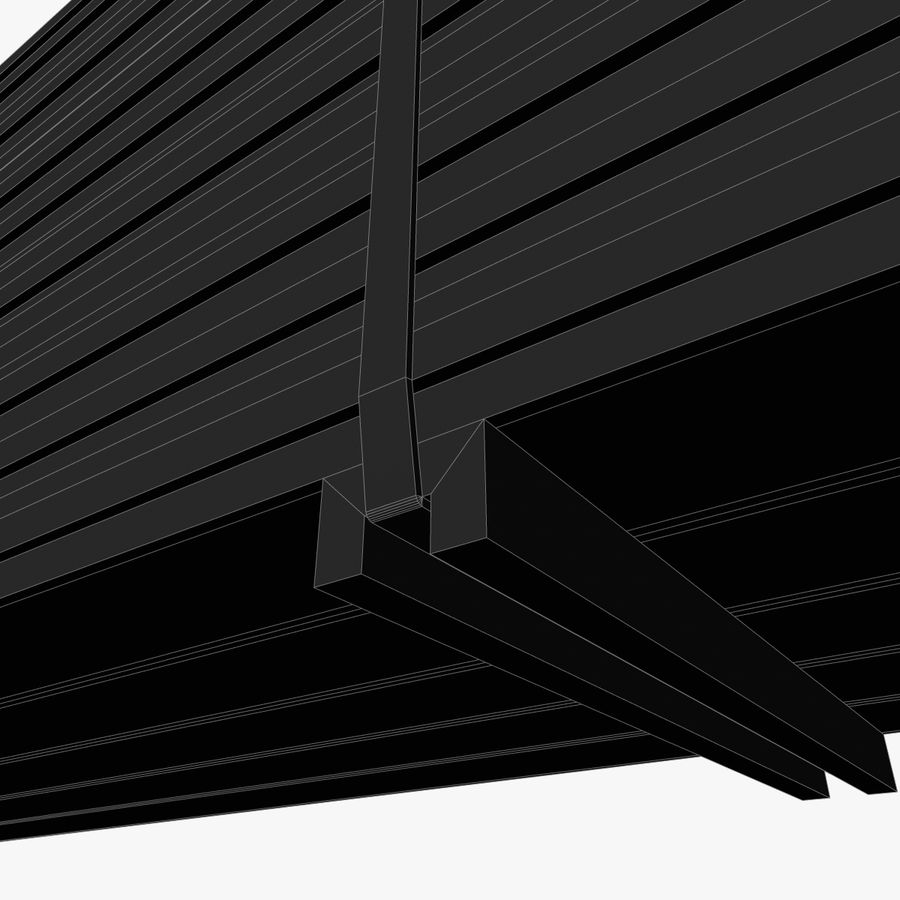 Pilha de madeira serrada royalty-free 3d model - Preview no. 19