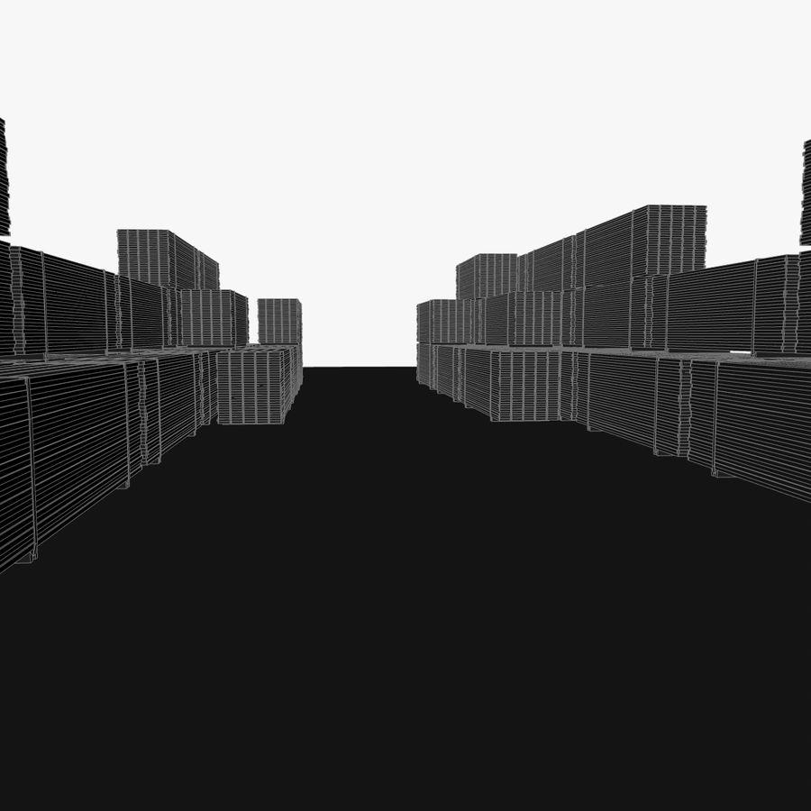 Pilha de madeira serrada royalty-free 3d model - Preview no. 21