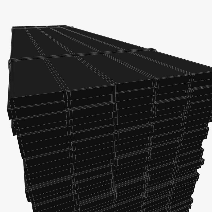 Pilha de madeira serrada royalty-free 3d model - Preview no. 16