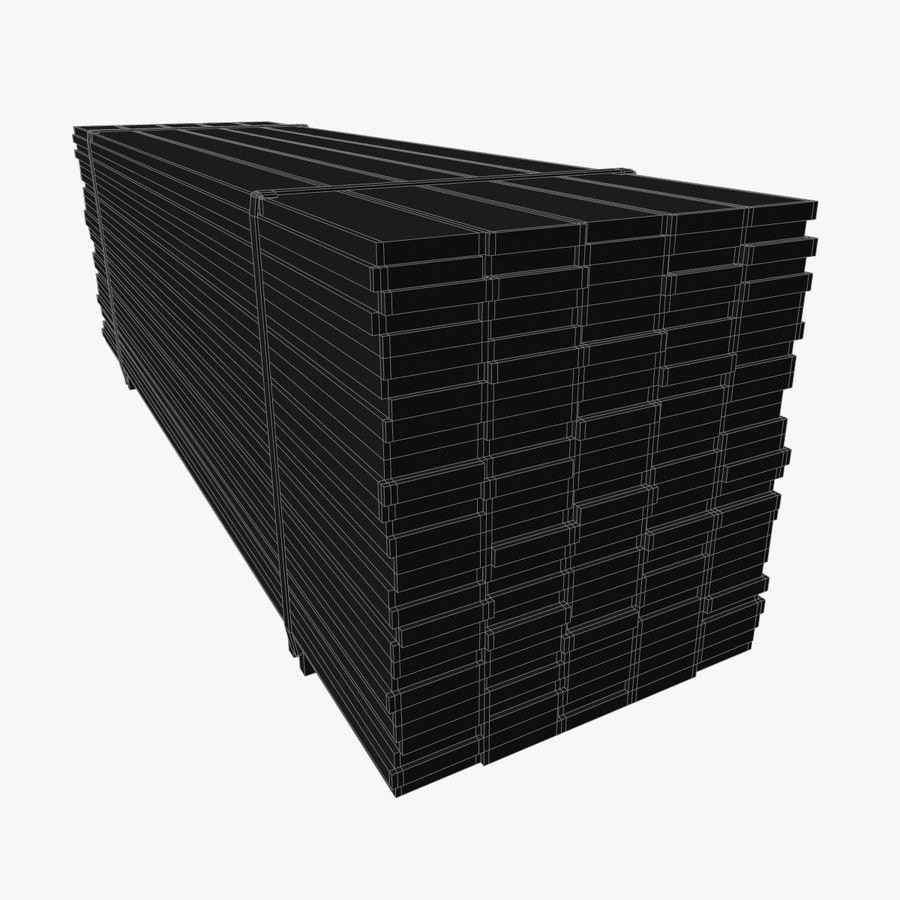 Pilha de madeira serrada royalty-free 3d model - Preview no. 10