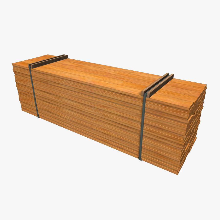Pilha de madeira serrada royalty-free 3d model - Preview no. 5