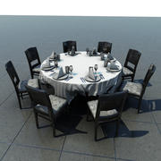 Table With Cloth 1 3d model