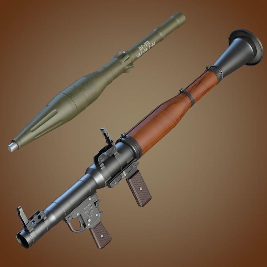 RPG-7 Granatwerfer royalty-free 3d model - Preview no. 6