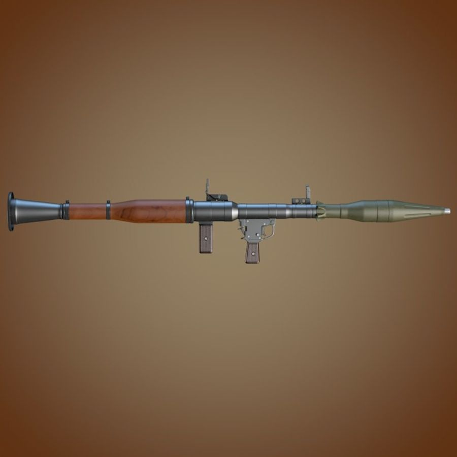 Granatnik RPG-7 royalty-free 3d model - Preview no. 3