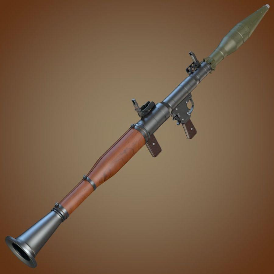 RPG-7 Granatwerfer royalty-free 3d model - Preview no. 1