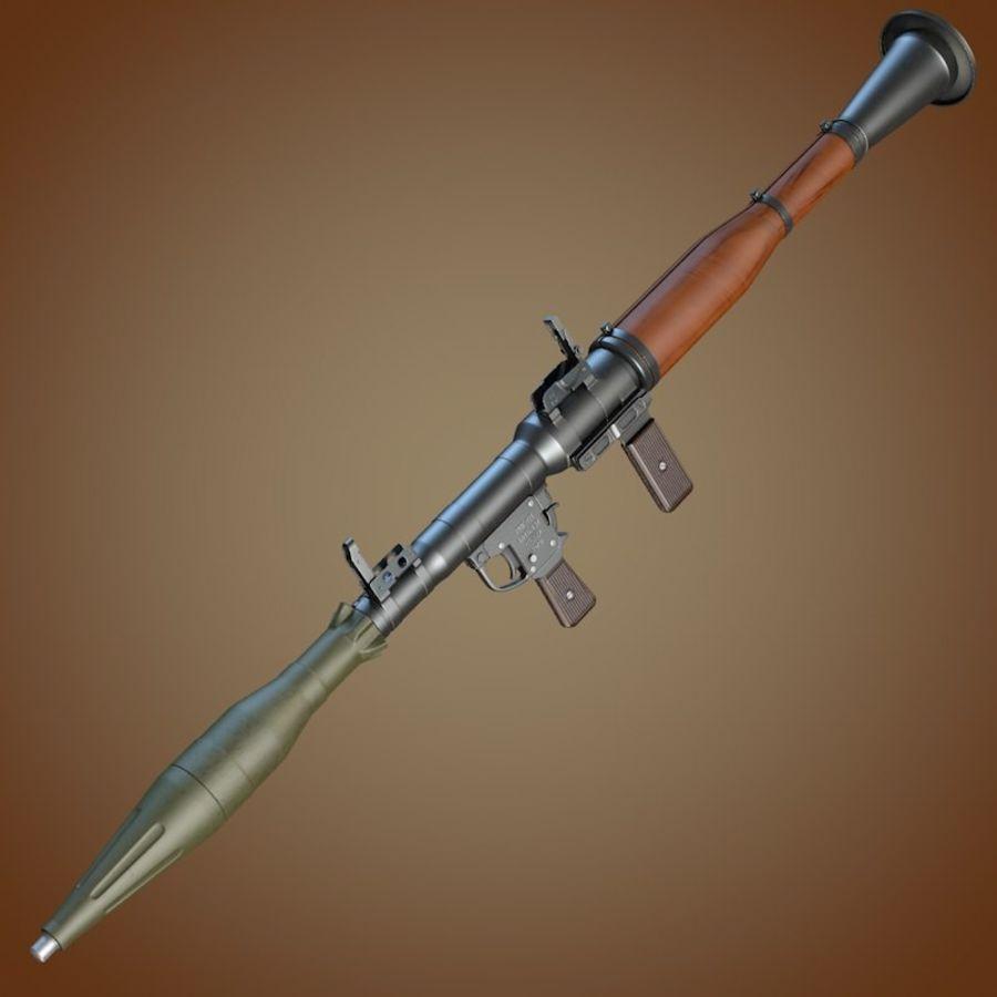 RPG-7 Granatwerfer royalty-free 3d model - Preview no. 2