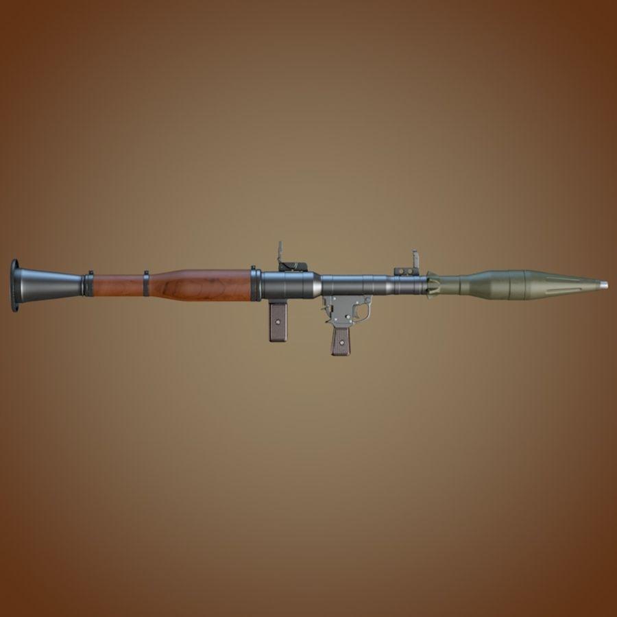 Lanciagranate RPG-7 royalty-free 3d model - Preview no. 3