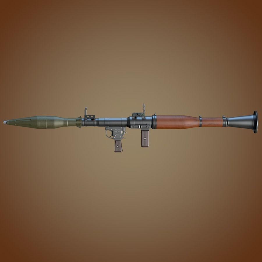 Lanciagranate RPG-7 royalty-free 3d model - Preview no. 4