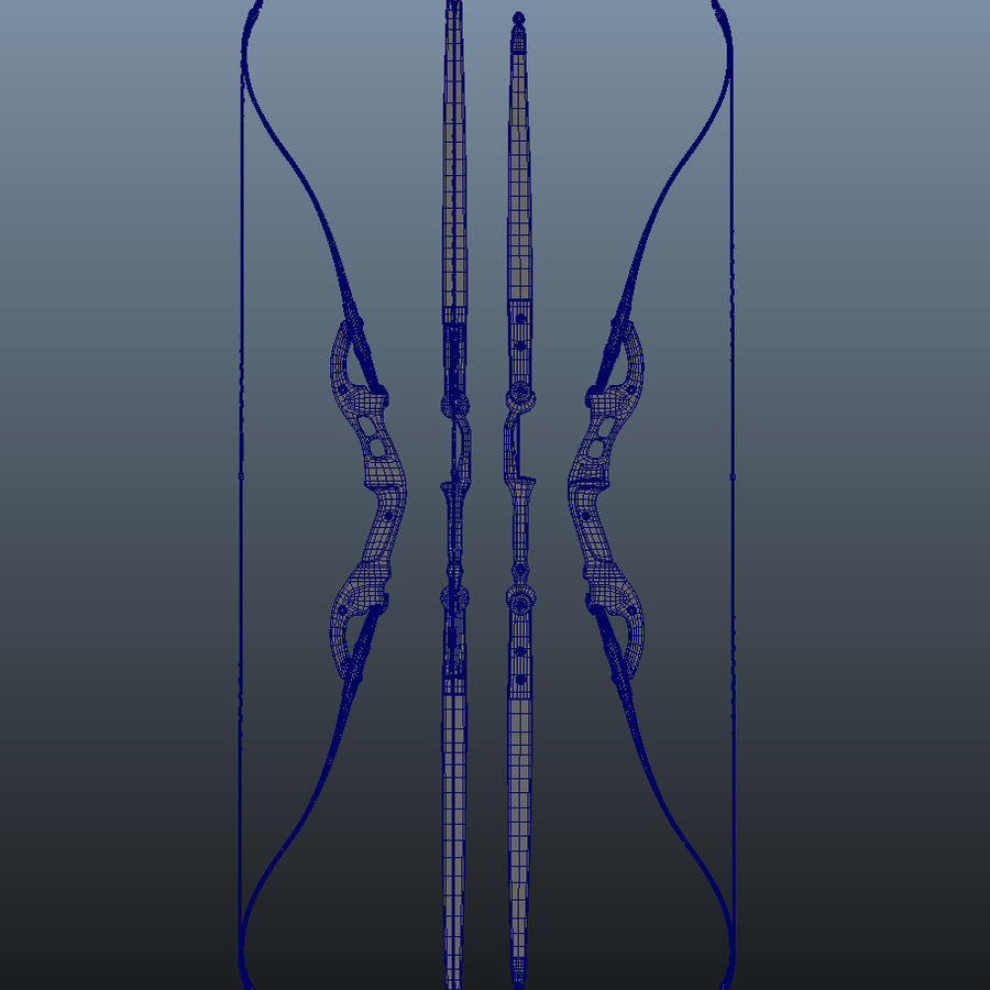 bow royalty-free 3d model - Preview no. 9
