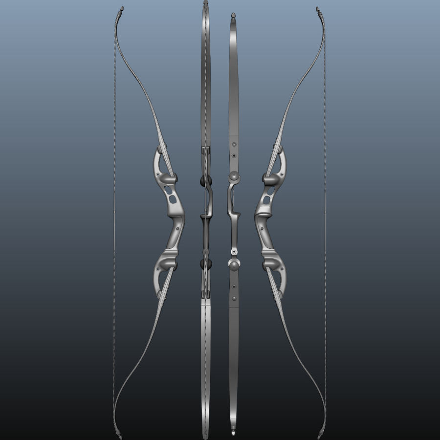 bow royalty-free 3d model - Preview no. 7