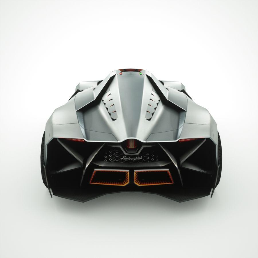 Lamborghini Egoista 2013 royalty-free 3d model - Preview no. 7