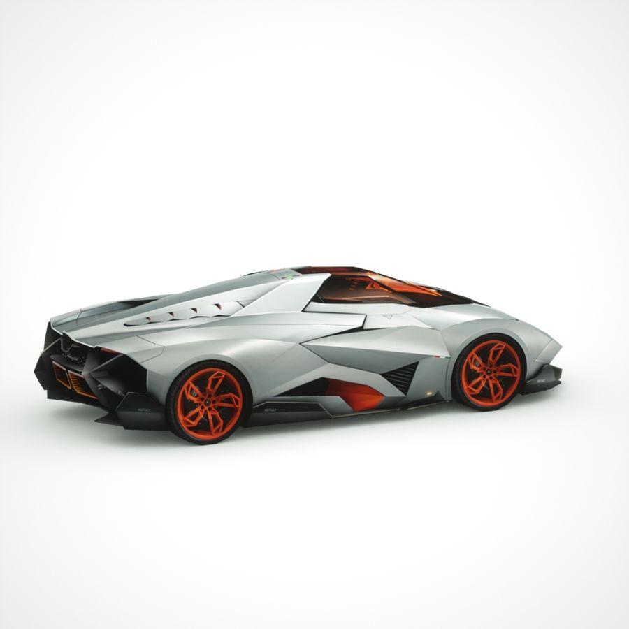 Lamborghini Egoista 2013 royalty-free 3d model - Preview no. 4