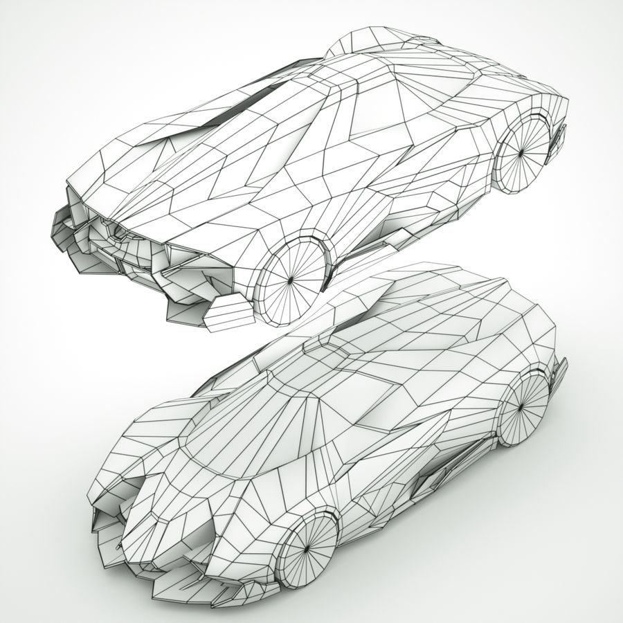 Lamborghini Egoista 2013 royalty-free 3d model - Preview no. 9