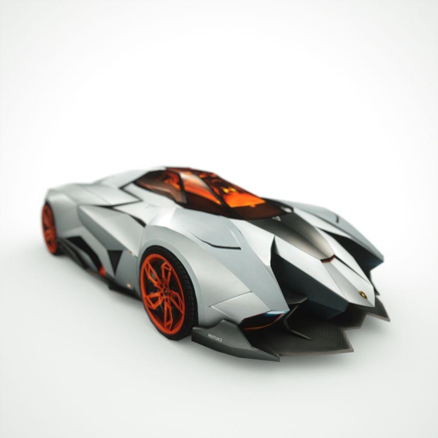 Lamborghini Egoista 2013 royalty-free 3d model - Preview no. 8