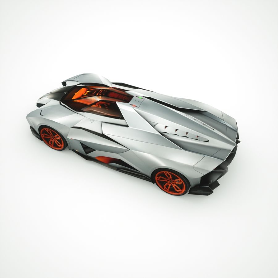 Lamborghini Egoista 2013 royalty-free 3d model - Preview no. 5