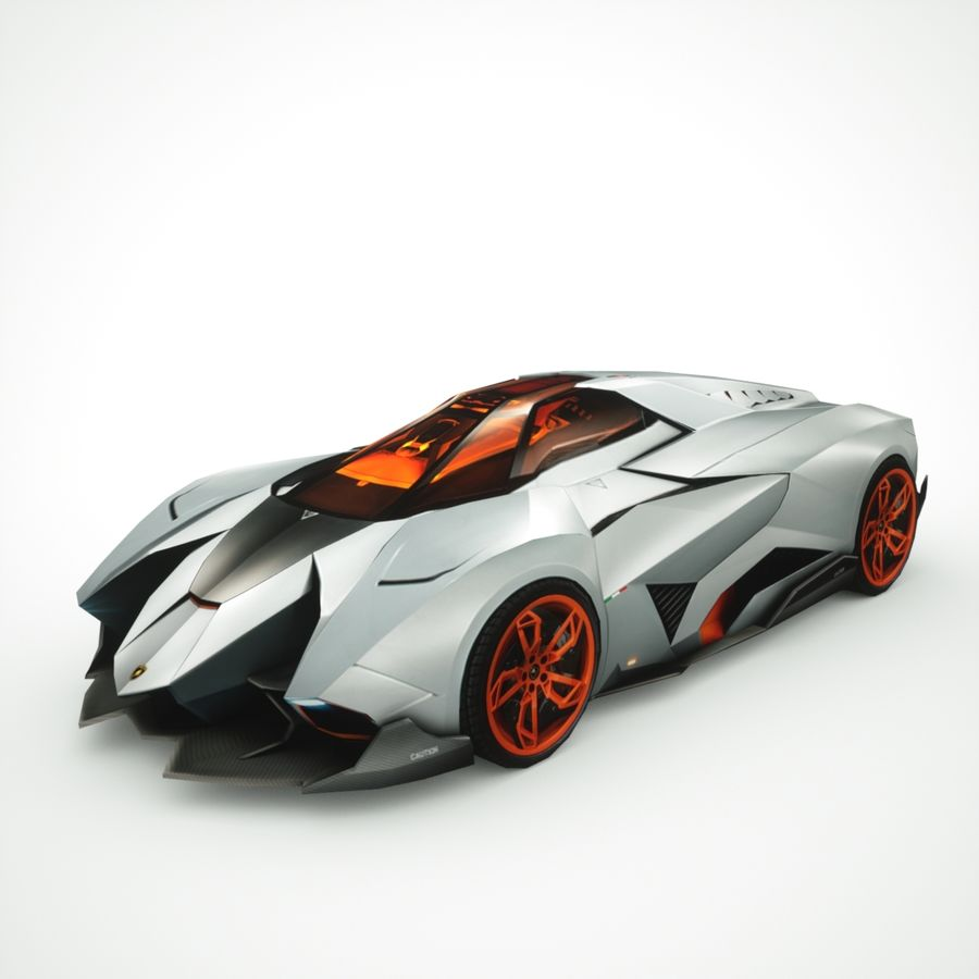 Lamborghini Egoista 2013 royalty-free 3d model - Preview no. 1