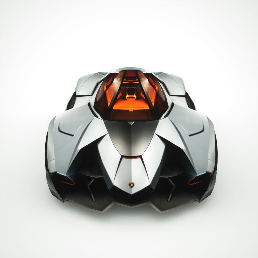 Lamborghini Egoista 2013 royalty-free 3d model - Preview no. 6