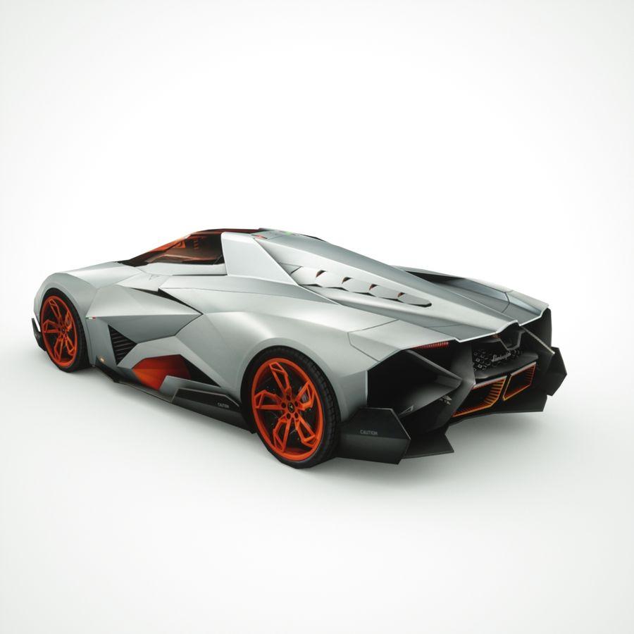 Lamborghini Egoista 2013 royalty-free 3d model - Preview no. 2