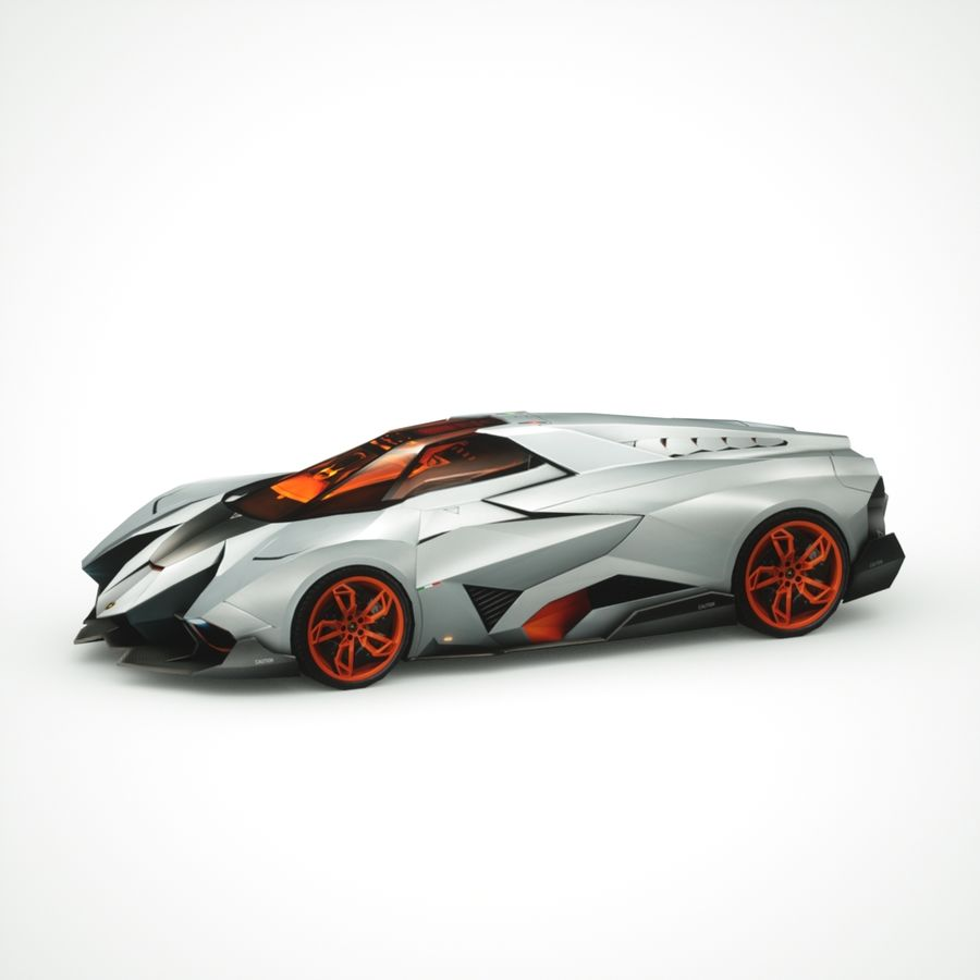 Lamborghini Egoista 2013 royalty-free 3d model - Preview no. 3