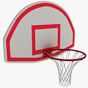 Basketball Hoop With Curved Backboard 3d model