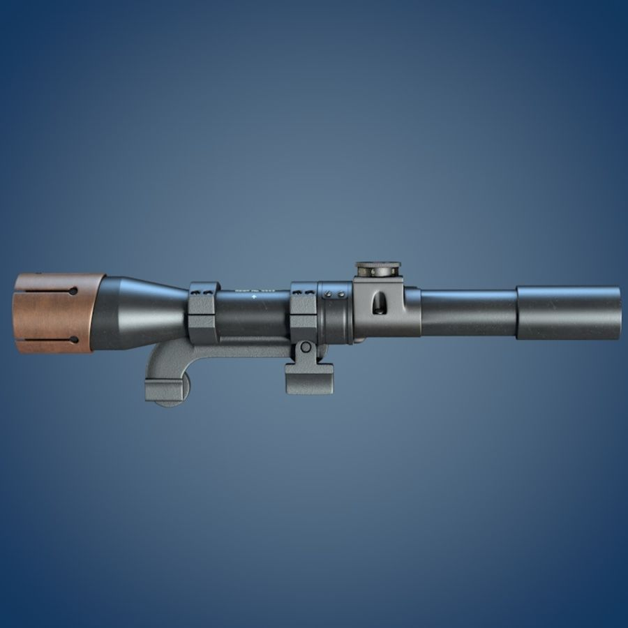 Enfield No. 32 MK I Scope royalty-free 3d model - Preview no. 4