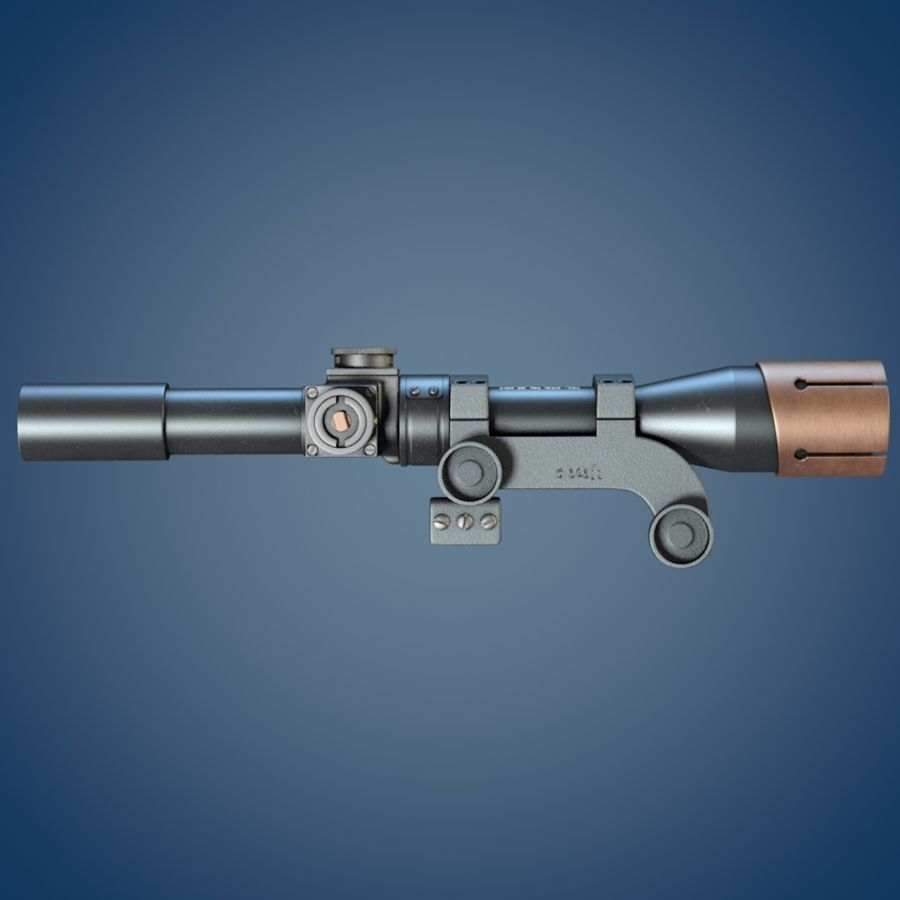 Enfield No. 32 MK I Scope royalty-free 3d model - Preview no. 5