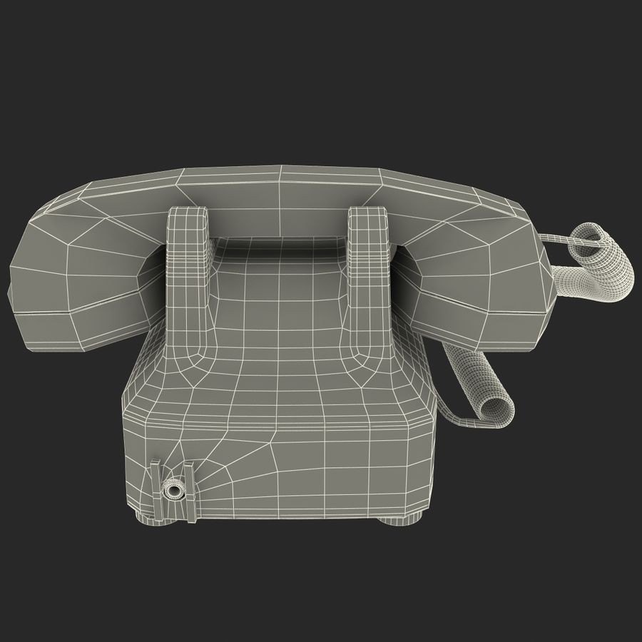 Traditional Retro Desk Corded Phone 2 royalty-free 3d model - Preview no. 17
