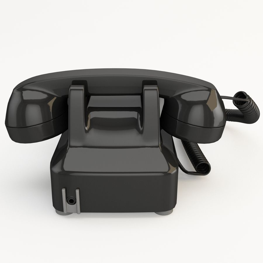 Traditional Retro Desk Corded Phone 2 royalty-free 3d model - Preview no. 6