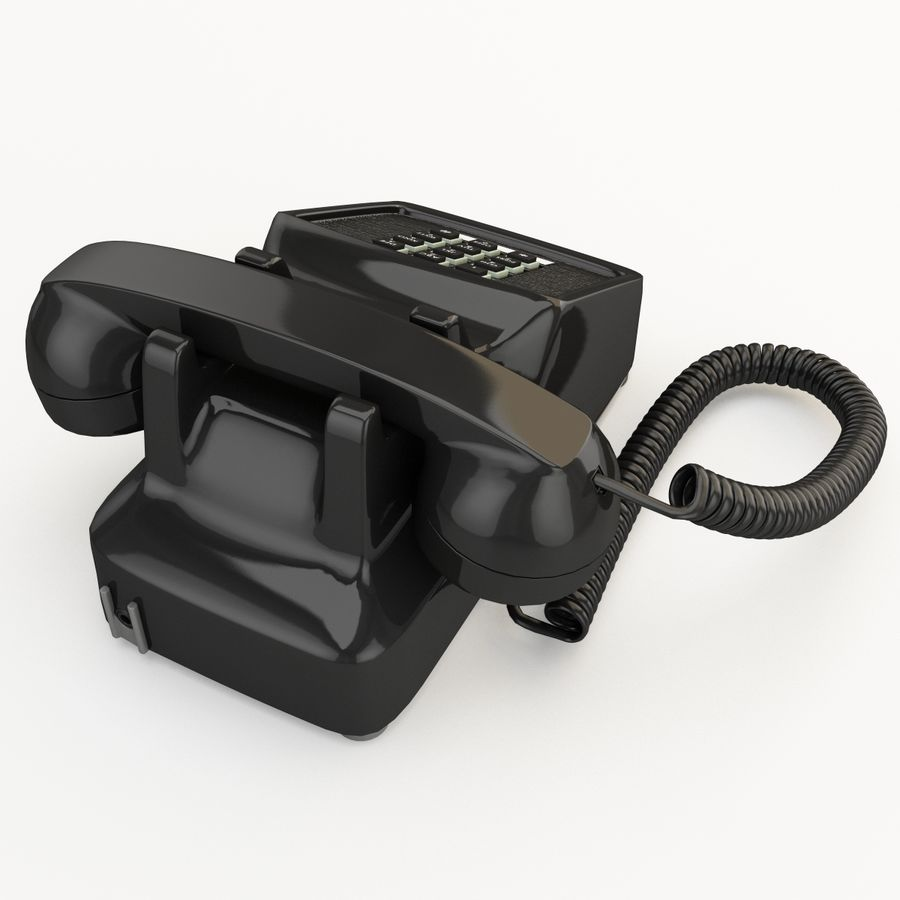 Traditional Retro Desk Corded Phone 2 royalty-free 3d model - Preview no. 9