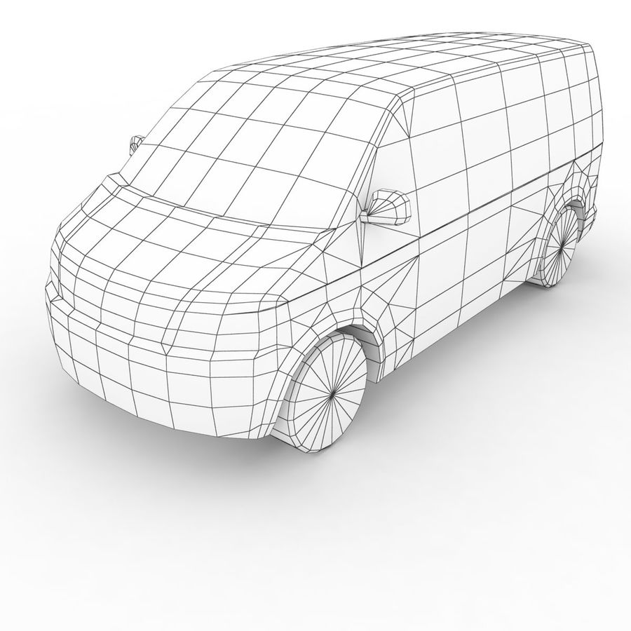 Volkswagen T5 Transporter DHL 2011 royalty-free 3d model - Preview no. 7